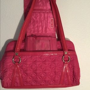 Pink Vera Bradley handbag and wallet